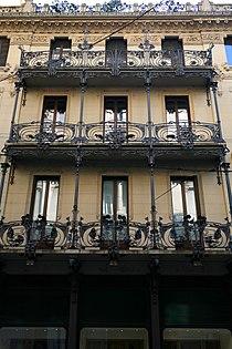 Casa Ferrario, Milano, veduta prospettica della facciata.jpg