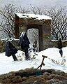 Caspar David Friedrich - Graveyard under Snow - Museum der bildenden Künste.jpg