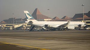 Juanda International Airport - Image: Cathay juanda