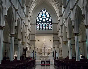 Cathedral of Saint John the Baptist (Charleston, South Carolina) - Cathedral interior in 2015.