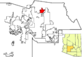 Cave Creek in Maricopa County map.png