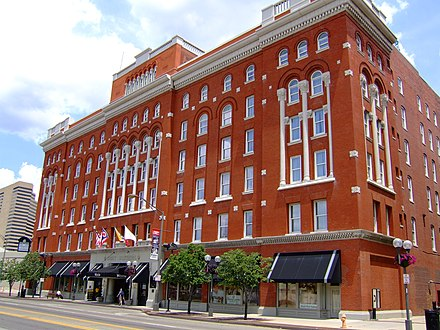 The Great Southern Hotel in downtown Columbus was completed in 1897 CbusGrtSthrn.JPG