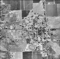 Satellite Imagery of Cedarville, California. Taken on September 29, 1999