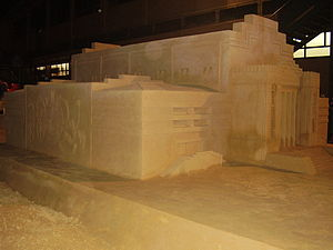 Adelaide Showground - Sand sculpture of the demolished Centennial Hall