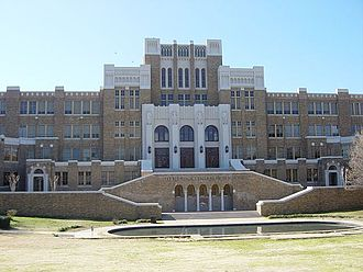 Little Rock Central High School - The Reflecting Pool was restored during the 2004–05 school year.
