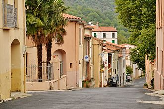 Ansignan - The main road in Ansignan