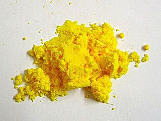 Cerium(IV) sulfate a yellow to yellow/orange solid cerium salt