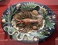 Ceramica palissy, rilievo con aragosta, pesci, serprente, tartaruga, lucertola, conchiglie e altro, 1820.JPG