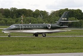 Cessna 680 Citation Sovereign au Luxembourg.