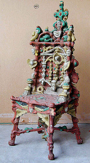 outsider art chair karl junker