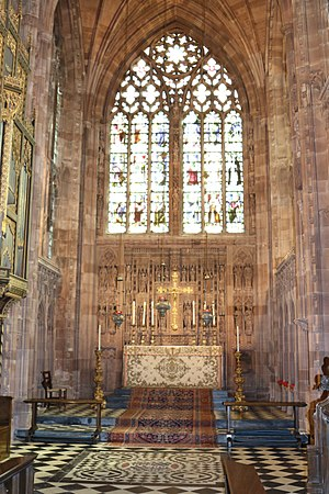 Church of the Holy Angels, Hoar Cross - Image: Chancel in the Church of the Holy Angels, Hoar Cross