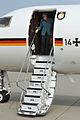 Chancellor Merkel makes brief stop at NATO Air Base (13926910270).jpg