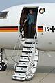 Chancellor Merkel makes brief stop at NATO Air Base (13926910270).jpg