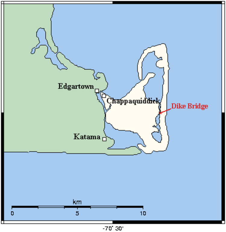 Map of Chappaquiddick