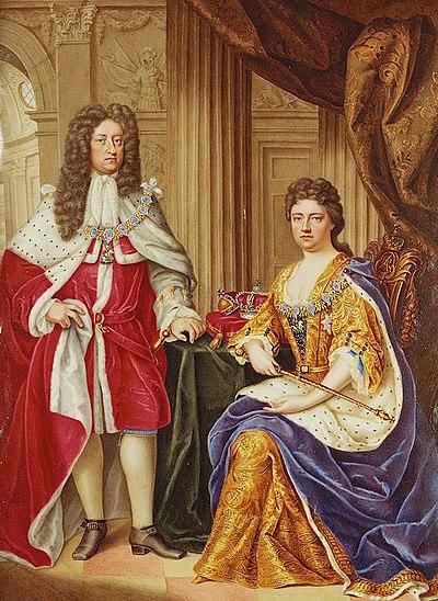 アン女王とジョージ王配(1706年画)