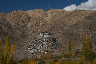 Chemrey village in Jammu and Kashmir, India