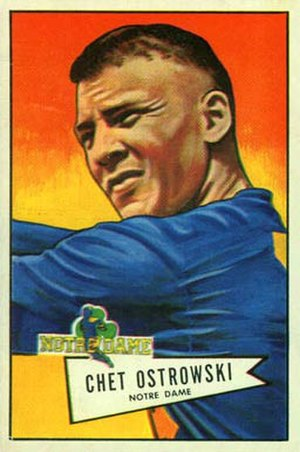 Chet Ostrowski - Ostrowski on a 1952 Bowman football card