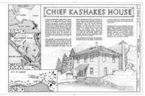Chief Kashakes' House, Mile 2.5 South Tongass Highway, Saxman, Ketchikan Gateway Borough, AK HABS AK,010-SAXM,2- (sheet 1 of 9).png