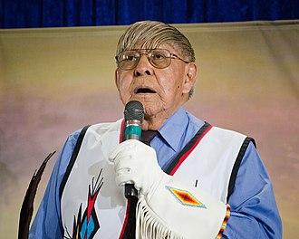 Piegan Blackfeet - Chief Earl Old Person, chief of the Blackfeet Tribe in Montana