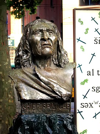 Chief Seattle - Chief Seattle's bust in the city of Seattle