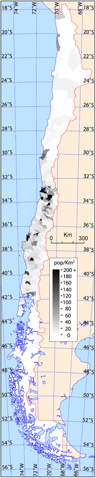 Demographics of Chile - Image: Chile density