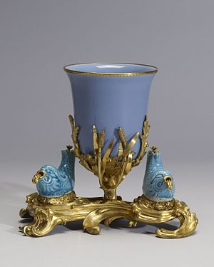 Ormolu - Image: Chinese Bowl Mounted with Two Fish Walters 492266