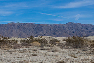 Mountain range in Southern California near the Salton Sea