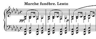 Piano Sonata No. 2 (Chopin) - Opening of the Marche funèbre