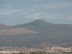 Chortiatis mountain (with observatory at peak), Thessaloniki prefecture, Greece 01.jpg