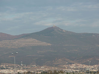 Mount Chortiatis - Image: Chortiatis mountain (with observatory at peak), Thessaloniki prefecture, Greece 01