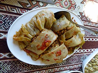Pilaf - Armenian cabbage roll stuffed with chickpeas and bulgur pilaf