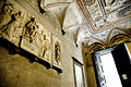 Church interior, relief depicting St. Virgin Mary and wisemen. Savona, Liguria region, Italy.jpg