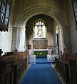 Church of St Mary the Virgin, Shipley, West Sussex, England ~ interior tower sanctuary arch.JPG
