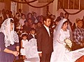 Church of Tacubaya, 1963, a wedding, on the left side, Sra. Celia Rodriguez Miranda, then the couple, right side of picture, the father of the bride.jpg