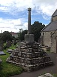 Churchyard Cross, St Crallo's Church, Coychurch.JPG