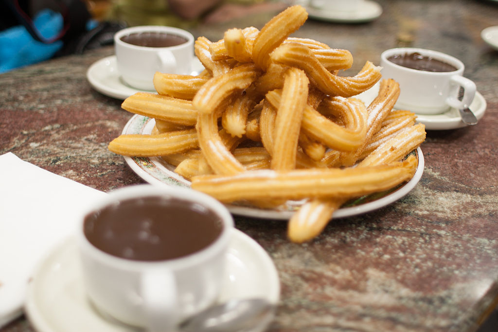 Churros con Chocolate en San Sebastián