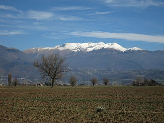 Rieti Valley - Monte Terminillo as seen from the valley