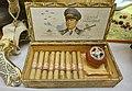 "Cigar box from Otto Benicke, Berlin with portrait of ""General Feldmarchall"" Hermann Göring; Nazi Germany christmas tree bauble with Göring portrait; etc. Lofoten Krigsminnemuseum, Norway (WW2 Memorial Museum) 2019-05-08 DSC00289.jpg"