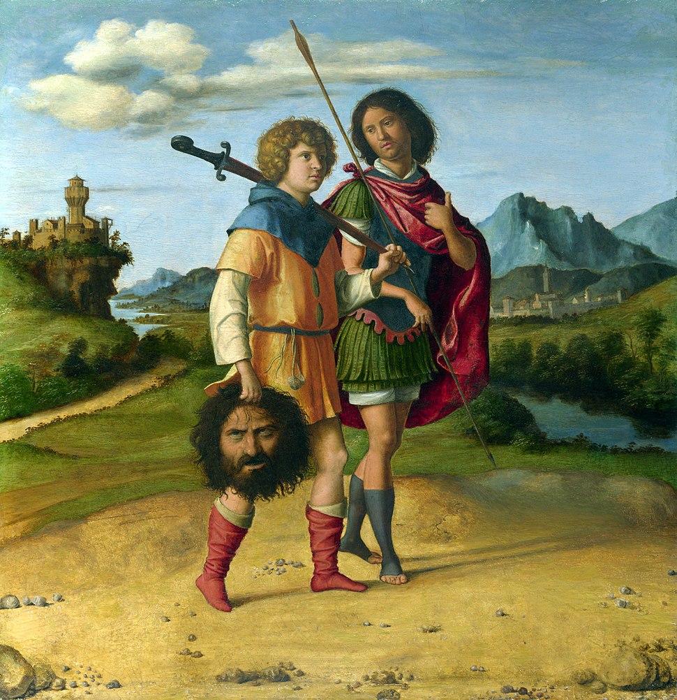 Cima da Conegliano - Gionata e david con la testa di Golia