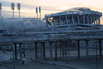 Riverfront Stadium - December 29, 2002 implosion.