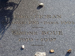 The tomb of Cioran and Simone Boué