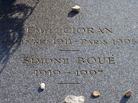 The tomb of Cioran and Simone Boue Cioran tombe.jpg