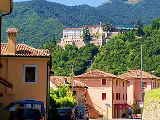 CastelBrando - Cison di Valmarino with CastelBrando in background