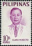 Claro M. Recto 1969 stamp of the Philippines.jpg