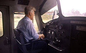 British Rail Class 37 - Cab interior of loco no. 37052