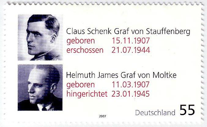 Claus Schenk Graf von Stauffenberg - Helmuth James Graf von Moltke