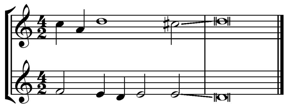 Clausula vera cadence from Lassus