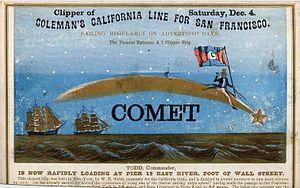 Comet (clipper) - Sailing card