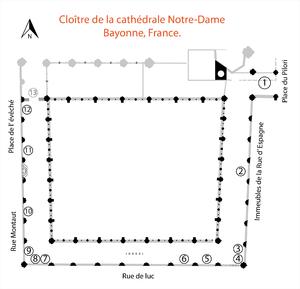 Cloître de la cathédrale Notre-Dame, Bayonne.png