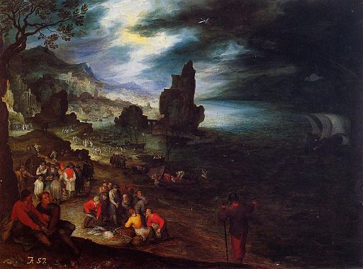 Coastal Landscape with the Sacrifice of Jonas